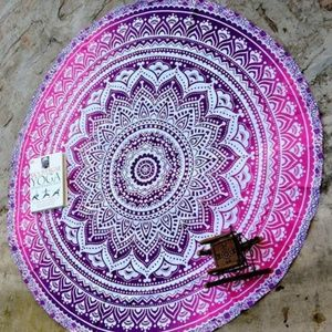 Other - Round Mandala purple hombre cover up/tapestry